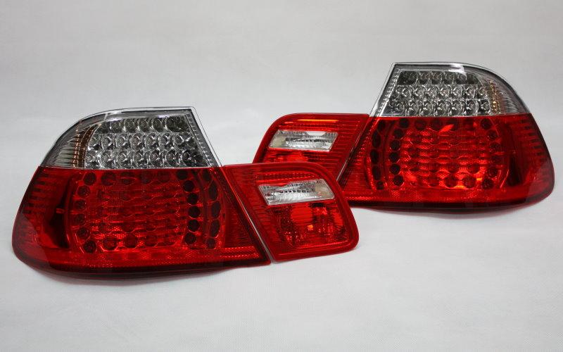 klarglas led r ckleuchten set bmw e46 3er coupe 99 03 rot. Black Bedroom Furniture Sets. Home Design Ideas