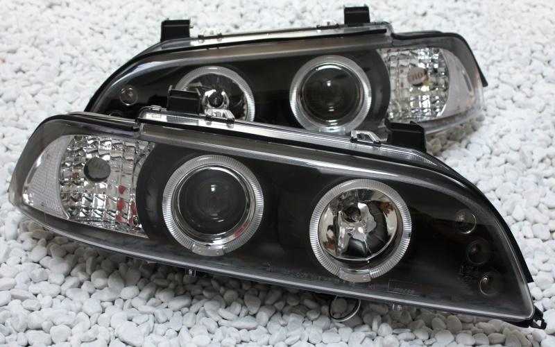 scheinwerfer led angel eyes bmw e39 5er 95 04 limo touring. Black Bedroom Furniture Sets. Home Design Ideas